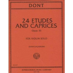 Dont, Jakob - 24 Etudes and Caprices Op. 35 - Violin solo - by Ivan Galamian - International